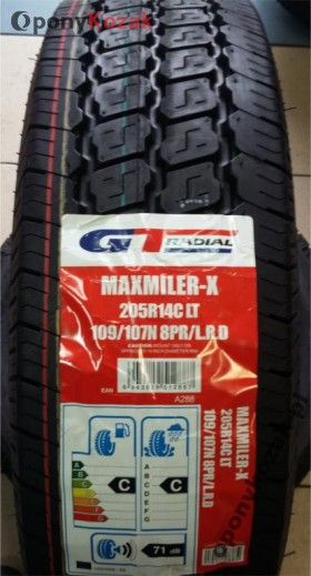 Opony GT Radial MAXMILER-X 205R14C 109/107 N